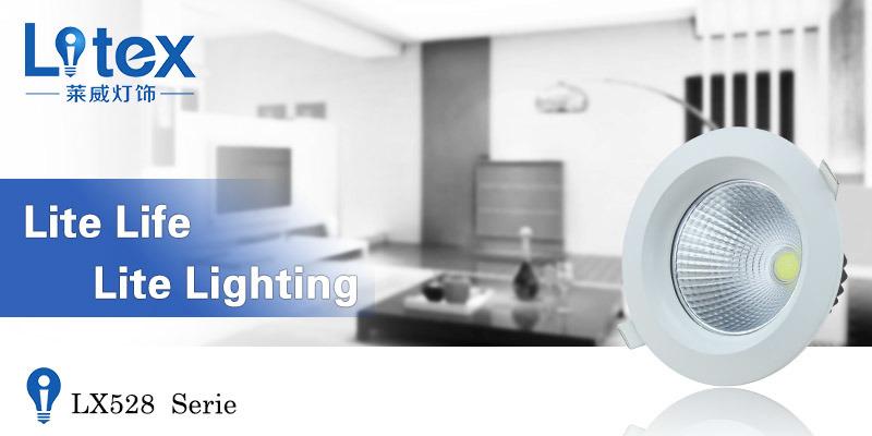6W 12W 24W Pkw Aluminium LED COB Spot Light (LX528/12W)