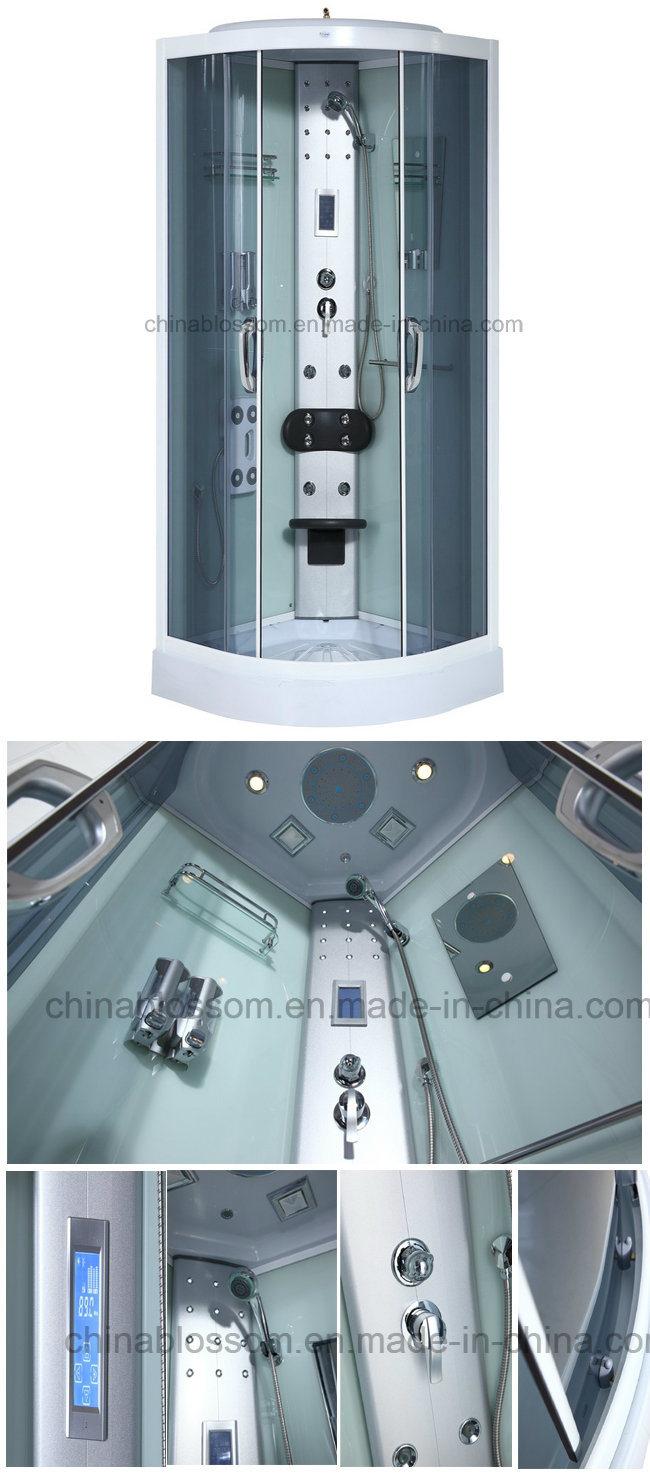China Bathroom Corner Luxury Tempered Glass Hydromassge