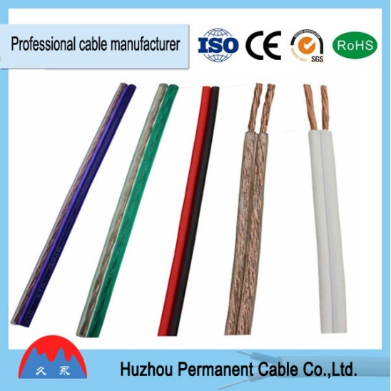 Parallel Wire Red And Black : China mm transparent speaker cable red and black