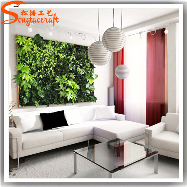 China new style artificial plastic indoor decoration green for Artificial grass indoor decoration