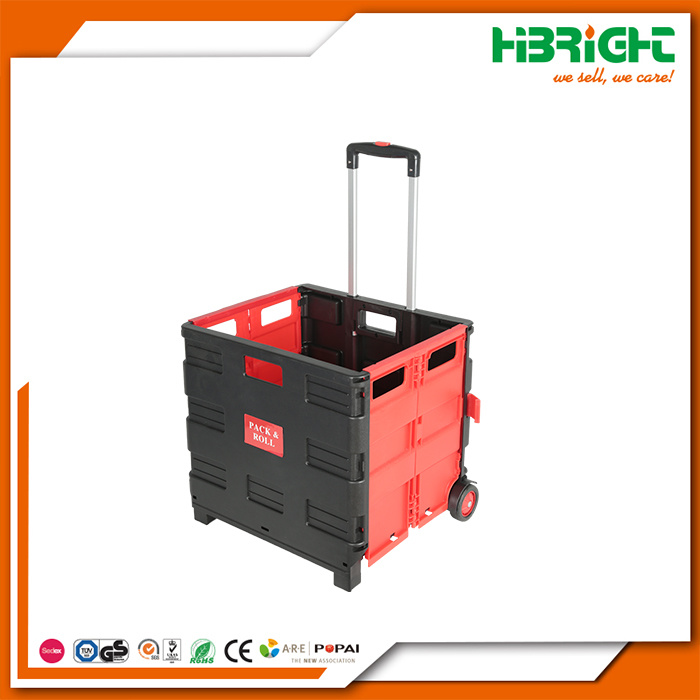 China Foldable Pack And Roll Shopping Cart Trolley China