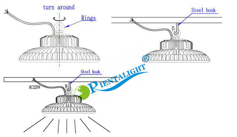 Osram Philips Nichia Meanwell Hbg 100W UFO LED Highbay Light
