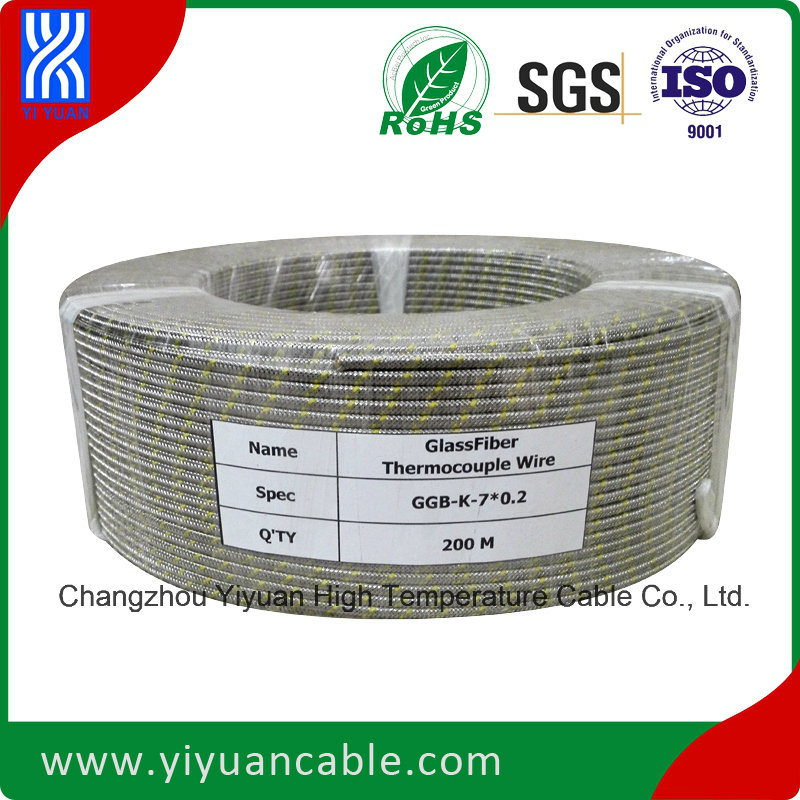 Thermocouple Wire (Glassfiber/Glassfiber/Ss Braid K Type 7X0.2)