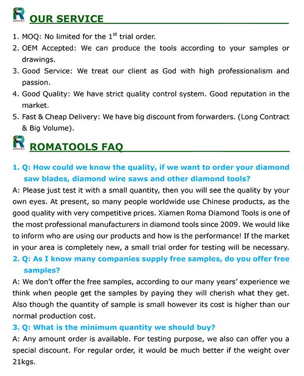 Romatools Diamond Grinding Tools