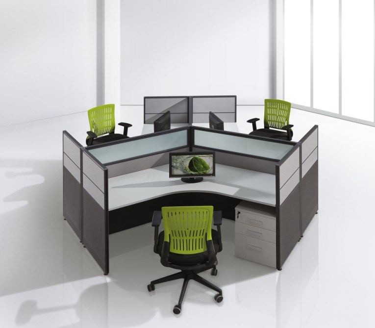 Partition System Workstation Partition Office Furniture L Shapd Desk