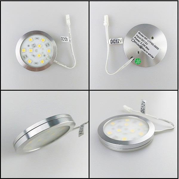 DC12V 2.2W Ultrathin Aluminum 60mm LED Puck Light for Home Decoration