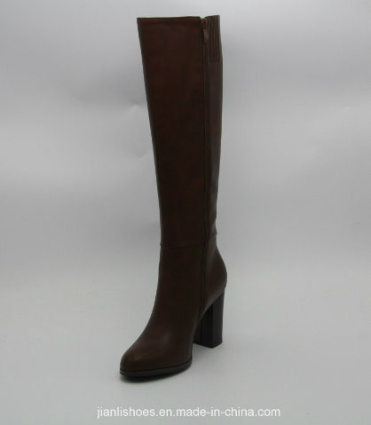 Classic England Style Knee-High Boots with Rivet Decoration (BT720)