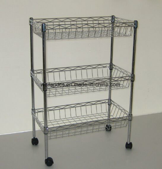 Het regelbare karretje van het metaal van het chroom verwijderbare voor het ziekenhuis en - Bibliotheek wielen ...