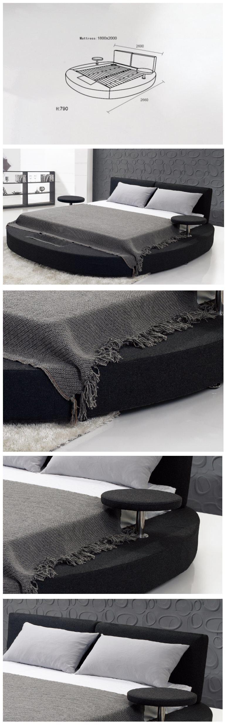Comfortabel rond bed voor het gebruik van de slaapkamer (b013 ...