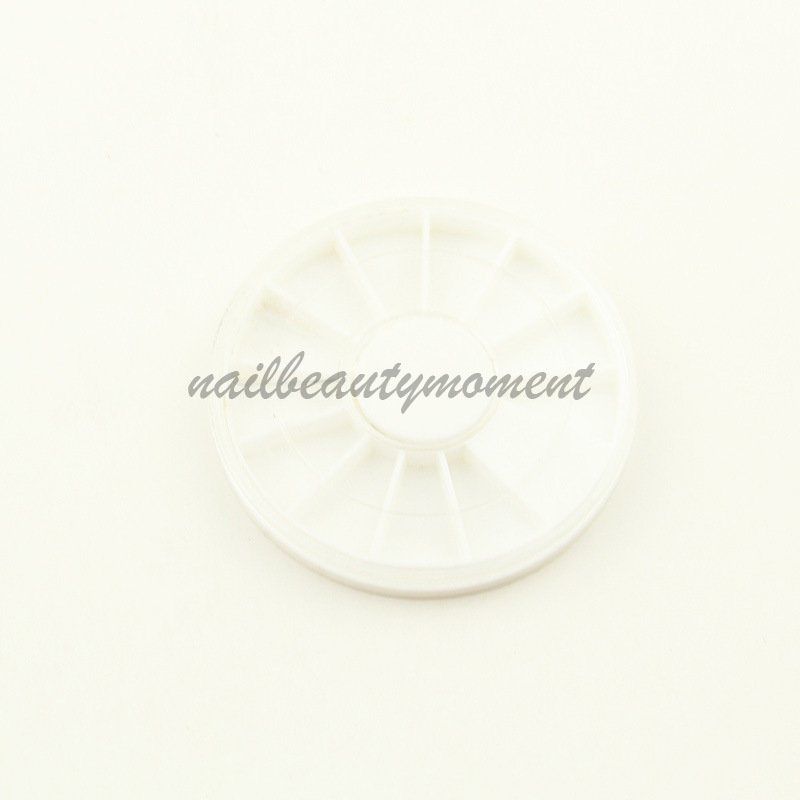 Nail Art Round Carousel Empty Storage Wheel Container (C04)