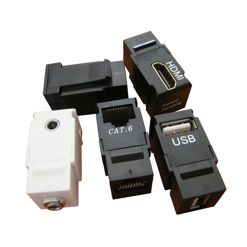 Rj45 accoppiatore del usb hdmi 3 5 jack rj45 for Piede quadrato di 20x20