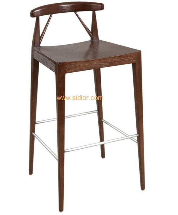 (CL-4411) Classic Hotel Restaurant Club Furniture Wooden High Barstool Chair