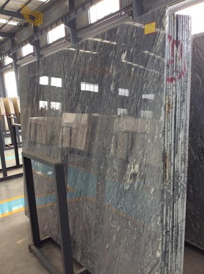 M rmol gris del nuevo hielo romano oscuro para los fondos for Marmol gris oscuro