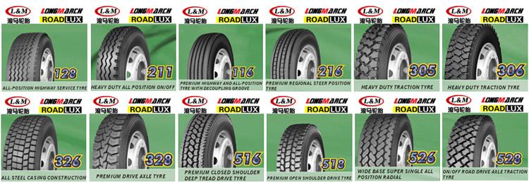 pneu 11r24 5 pneu 295 75r22 5 11r22 5 11r24 5 de camion de roadlux longmarch de camion pneu. Black Bedroom Furniture Sets. Home Design Ideas