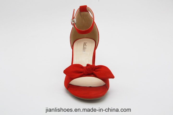 2018 Fashion Med Heeled Women Sandals with Bowknot Decoration (HSA38)