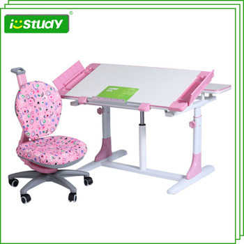 Kids Adjustable Workstation with Storage Compartment Plastic Table
