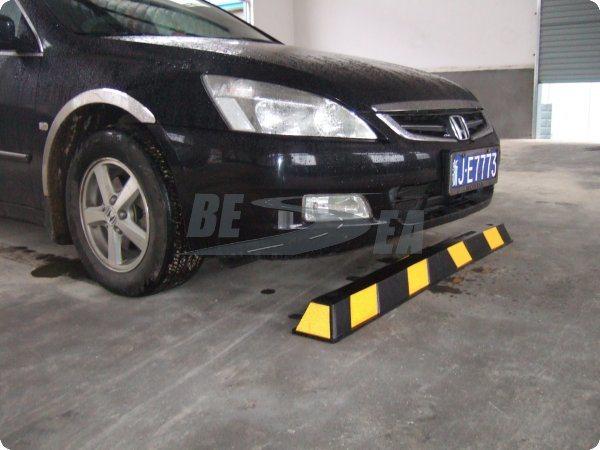 Arr t en caoutchouc r3fl chissant de roue de stationnement for Arret voiture garage