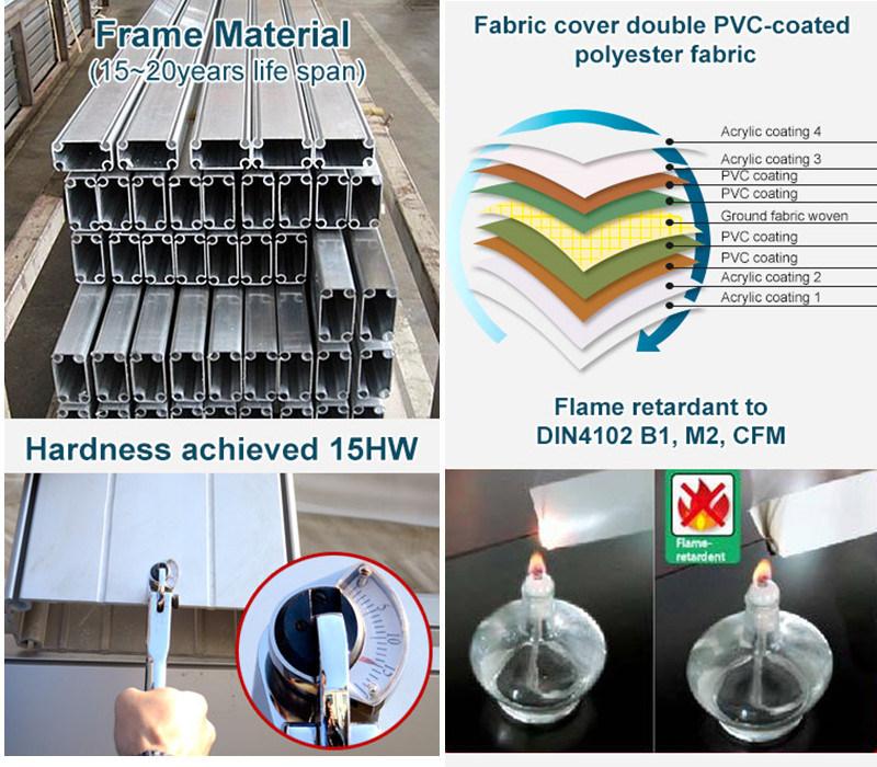 Tentes en aluminium de partie d 39 glise de chapiteau de for Fenetre autonettoyante