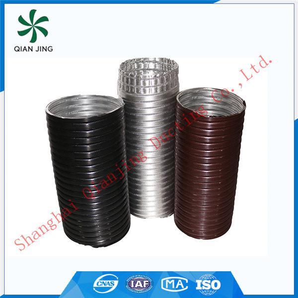 Black Semi-Rigid Aluminum Flexible Duct for Industrial HVAC Systems