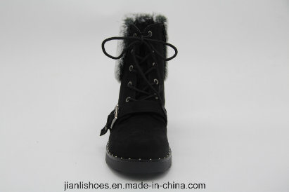 2018 Popular Fashionable Soft Fur Wool Winter Boots with Buckle (AB623)