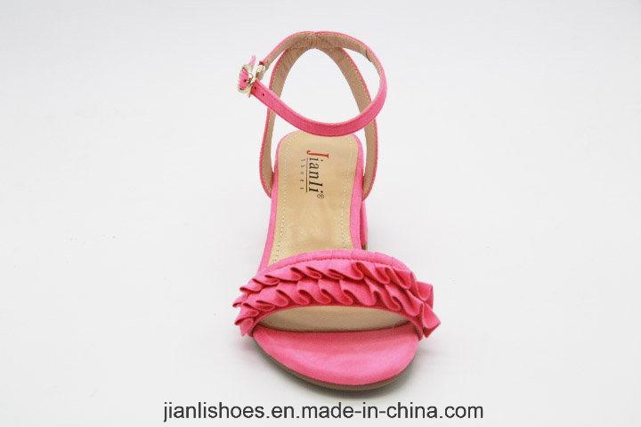 2018 Fashion Drape Low Heeled Women Sandals Shoes (HSA33)