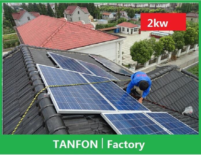 China 500w 1kw 2kw 3kw Solar Grid Tie Electrical System