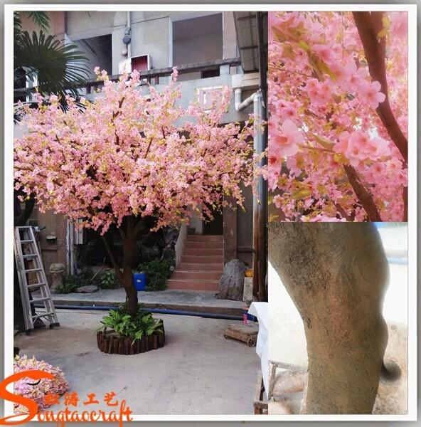 Arbre artificiel rose d coratif ext rieur ou d 39 int rieur for Arbre decoratif interieur