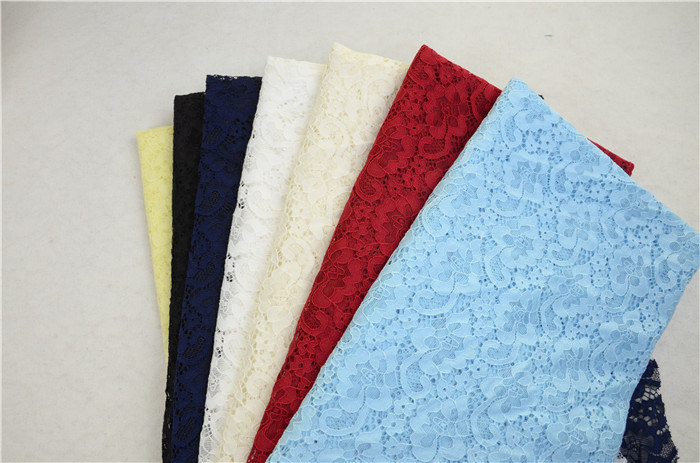 Cheap Nylon Spandex Jacquard Stretch Tricot Lace Fabric