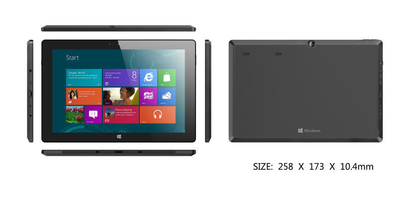 High Quality Hot Selling Intel Baytrail-T 3G Windows8 Tablet PC