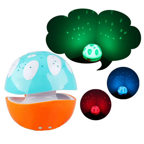 RGB LED Baby Sleeping Starry Sky Projector Night Light with Music Soundbox