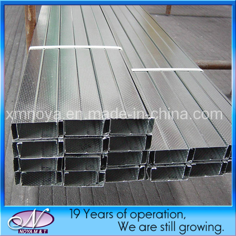 Building Wall Stud Lightweight Galvanized Metal Channel Steel