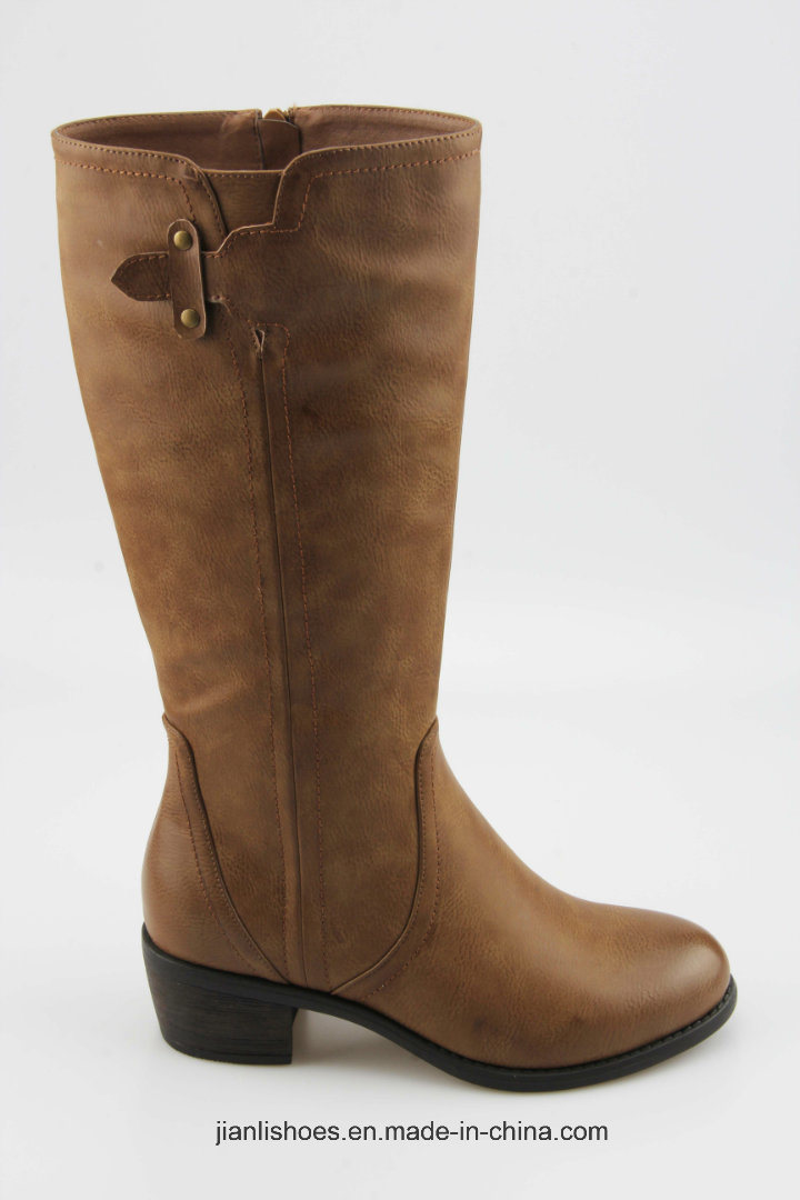 2018 Classic England Style Knee-High Boots with Buckle (BT721)