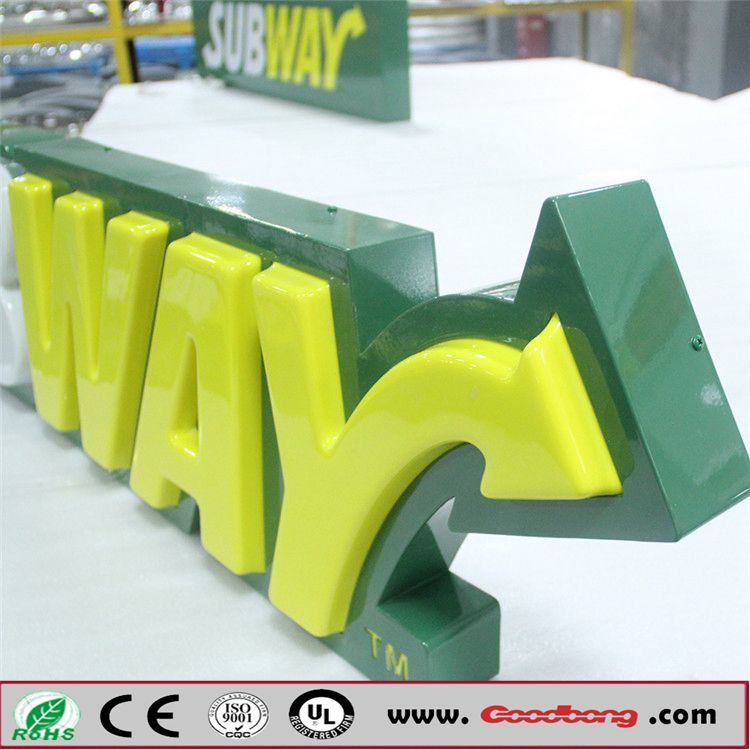 China Acrylic Embossed Letters Vacuum Forming Signage