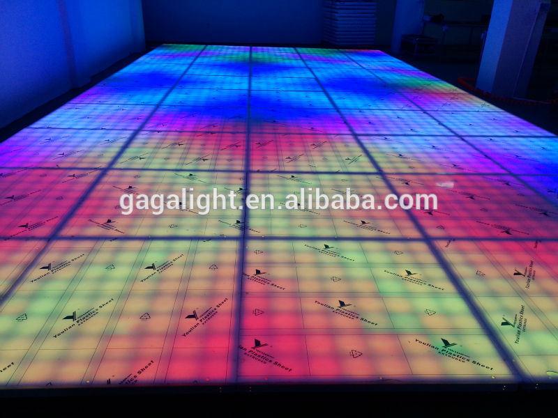 Portable 1m1m Cheaper Led Dance Floor Tiles For Disco Light Of Led