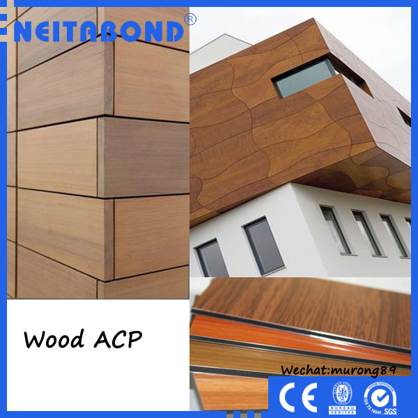 China linyi factory 3mm wood texture aluminum composite for Aluminium composite panel interior decoration