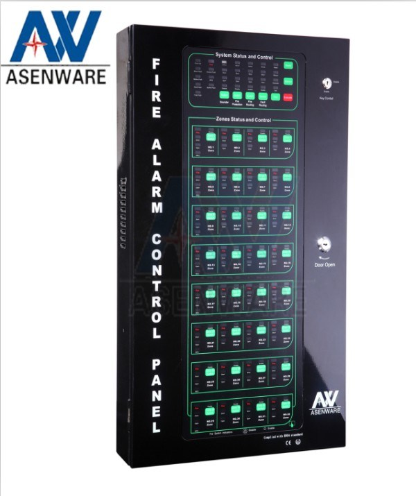 china asenware conventional 16 zone fire alarm control