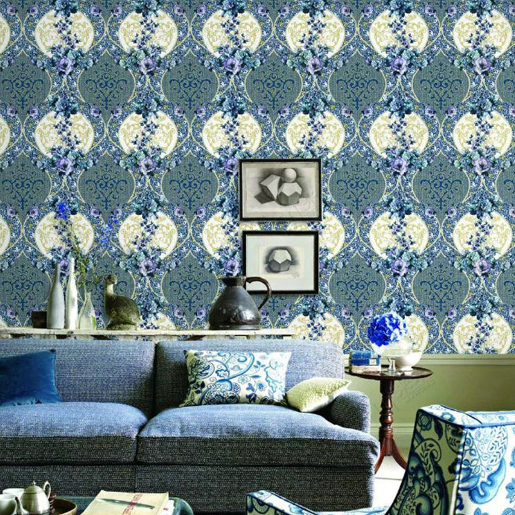 China Cheap Price Wall Paper Damask Designer Home