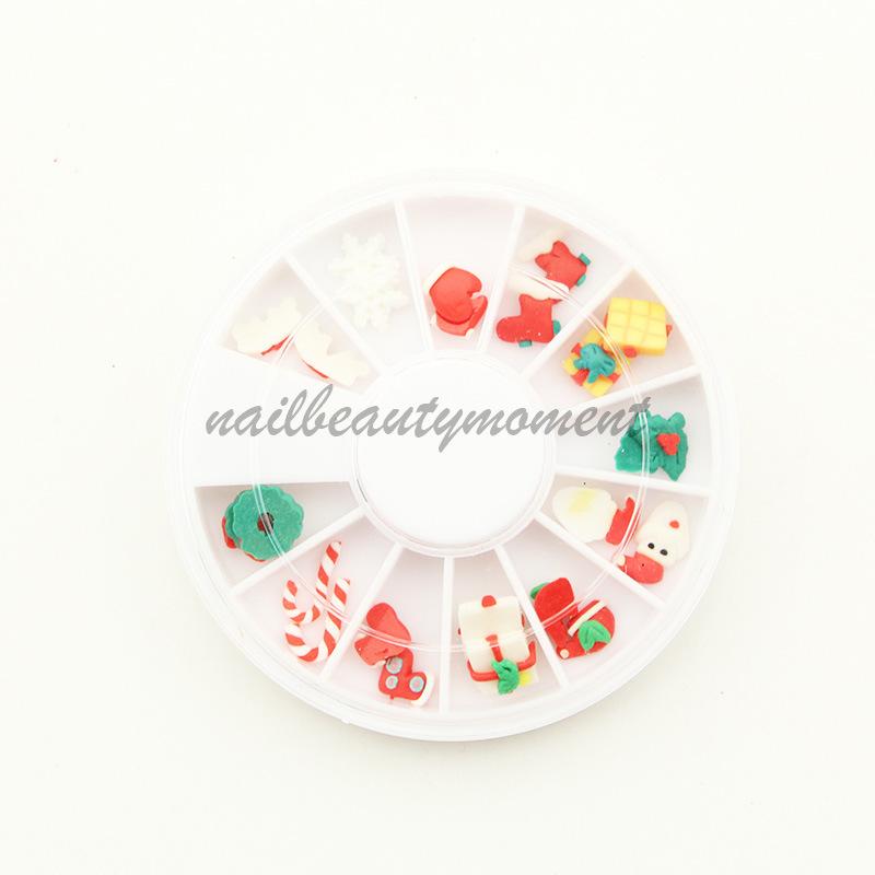 Christmas 3D Nail Art Decoration Fimo Art Nail (D16)