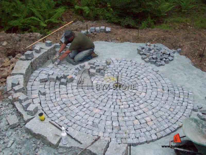 Granite garden pav s pav s pour d coration de paysage for Pave decoration exterieur