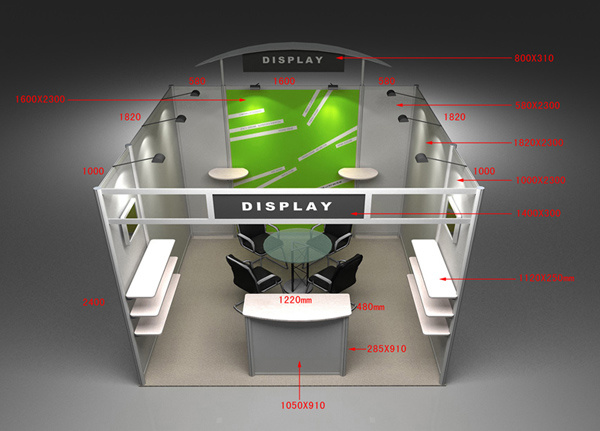Trade show booth hs code : Aluminum exhibition trade show booth