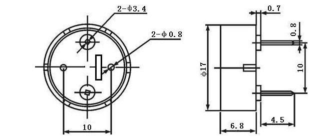 zumbador piezo activo  d17x h7mm 12v   u2013 zumbador piezo