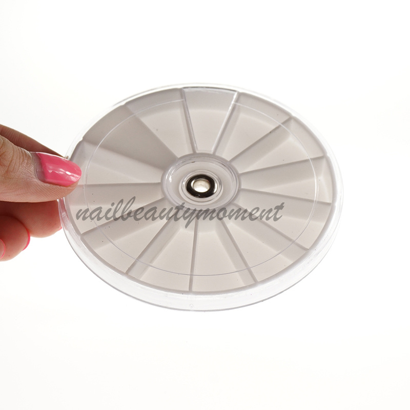 8cm Nail Art Rhinestone Storage Wheel Container (C20)