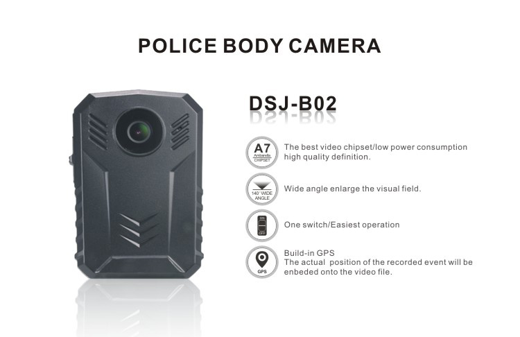 Mini Size Police Body Security IP Camera Night Vision with Buid-in GPS.