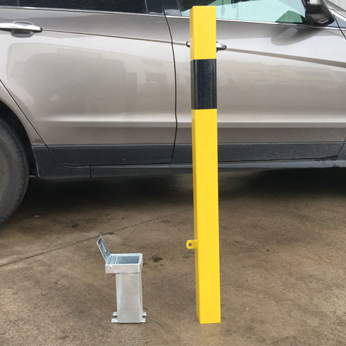 Metal Removable Bollard Rb12 Yellow