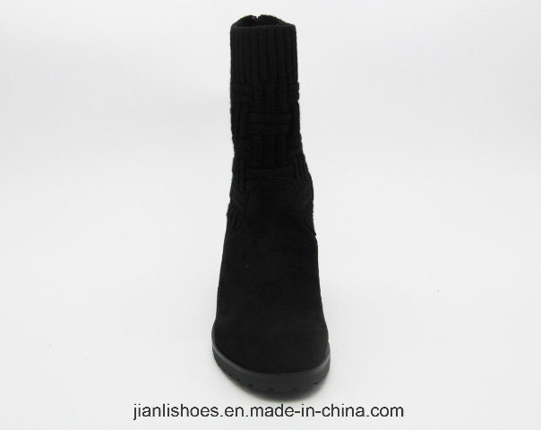 Soft Winter MID-Calf Boots with Weave Decoration (BT709)