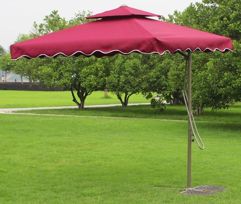 Haga doble steel deck boutique patio umbrella haga doble for Patio exterieur modele
