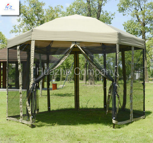 El gazebo plegable de la forma del borde del acero 6 del 1 for Gazebo plegable easy