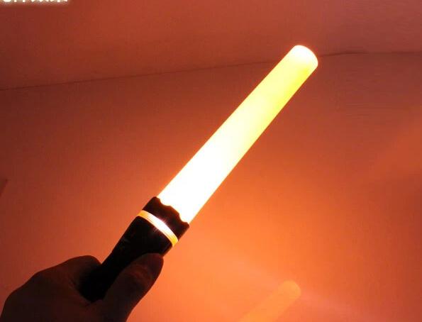 China Rechargeable Traffic Baton Flashlight LED Torch ...