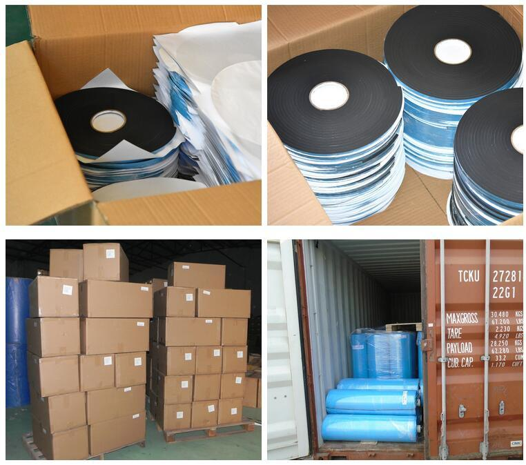 China Blue Liner Architectural Pvc Foam Spacer Tapes