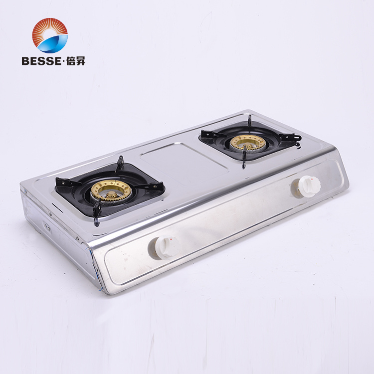stainless steel gas stove two burners